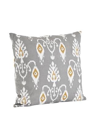 Saro Lifestyle Grey Ikat Design Pillow