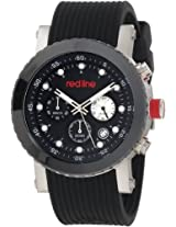 red line Men's RL-18102-01 Compressor Stainless Steel Watch with Black Silicone Band