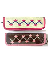 Set of 2 Pencil Pouch,Pencil Case,Pen Case,Coin Purse,Wallet,Pencil Box