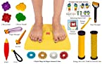 Acupressure Mat with Magnets Pyramids for Pain Relief and Total Health Size 12x12.5 Inches with FREE ACUPRESSURE PRODUCTS KIT