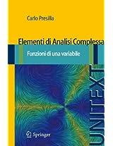 Elementi Di Analisi Complessa (Unitext / La Matematica Per Il 3+2)
