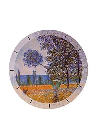 Artopweb Reloj De Pared Monet Felder In Fruehling