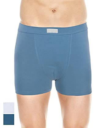 Ocean Pack x 2 Boxers Cerrado (Azul / Blanco)