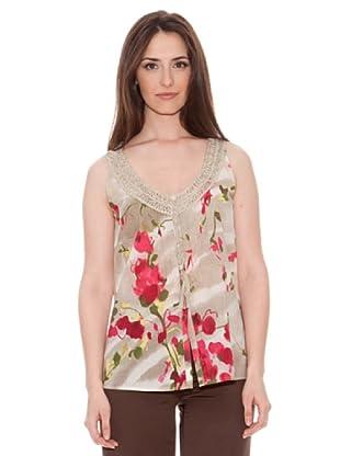 Diktons Camiseta Rosas (Beige)