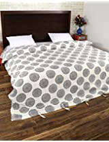 Comfortable Hand Block Printed Cotton Duvet Cover Double White Floral By Rajrang