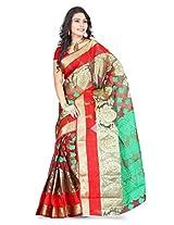 Fashion Studio Silk Saree (Bnrs78 _Multi-Coloured)