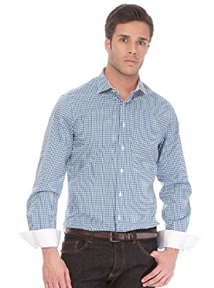 Arrow Camisa Cluet Slim (Azul / Verde / Blanco)