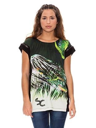 Sidecar Camiseta Jackie (Negro / Verde)