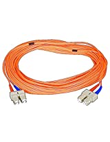 Monoprice 104835 15-Meters SC/SC Multi Mode Duplex Fiber Optic Cable - Orange