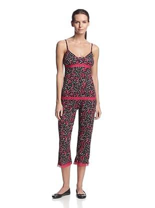 TART Women's Faith Cami Crop Pant Set (Blackberry Spot)