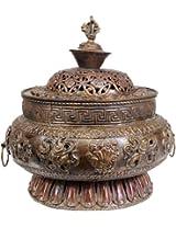 Ashtamangala Incense Burner - Copper