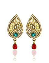 Zaveri Pearls Leaf Shape Drop Earring-ZPFK3595