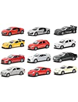 Catterpillar Metal Die Cast Cars With Lights And Music & Openable Doors 1:36 Scale (Assorted)
