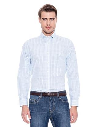 Brooks Brothers Camisa Vestir Ayrton (Azul Agua / Blanco)