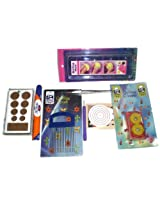 9 Piece Quilling Tools Kit - Mould Board Crimper Coach Tweezer Needle Glue&Quilling Strip.