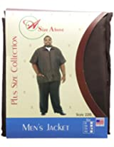 A Size Above Men's Barber Jacket, 3X, Chocolate Brown