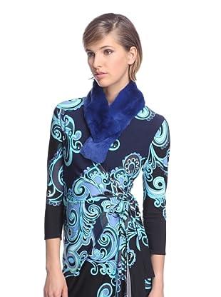 Lafayette 148 Women's Fur Neck Warmer (Electric Blue)