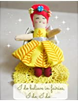 Cloth Fairy Doll (2 Fairies in Pack) - Use As Tooth Fairy, Food Fairy, Garden Fairy, Tangle Fairy and more. Carry Along Pouch, Handmade with Love, Eco Friendly, Cotton Stuffed Doll. Can Work As Toy, Decoration, Story Character in Fairy tales and More.