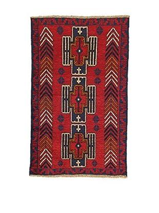 L'Eden del Tappeto Teppich Beluchistan rot/braun/blau 138t x t87 cm