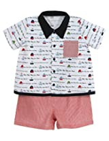 Stephan Baby Row Your Boat Bowling Shirt and Diaper Cover, 12-18 Months