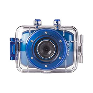 Vivitar DVR785HD-BLU Professional Waterproof Camcorder 5 Megapixel with Case and Mount