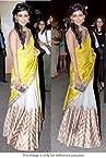 Bollywood Replica Chitrangada Singh Paper Silk Saree In Yellow and Beige Colour NC478