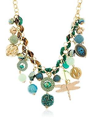 Edien Collar Catania Turquesa / Verde / Dorado