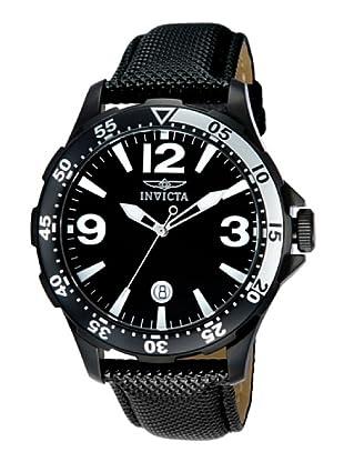 Invicta 12125 - Reloj de Caballero cuarzo piel Negro