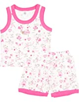 Toffy House Kids' T-Shirt With Trousers Set (126_9-12 Months, Pink, 9-12 Months)