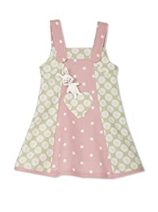 4EverPrincess Girl's Mimi Dress (Spring Green/Pink)