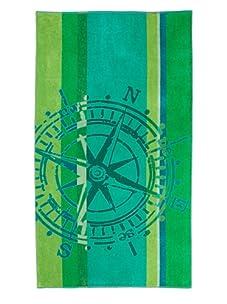 "Arkhipelagos Wheel Beach Towel, Green, 39"" x 73"""