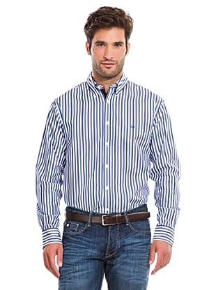 Pedro del Hierro Camisa Fantasía Rayas (Azul)