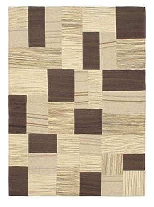 Hand Woven Mosaico Wool Kilim, Cream, 4' 9