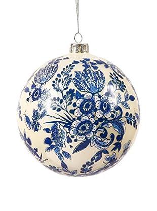 Winward Handpainted Glass Ornament I, Blue/White