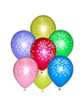Tiger 50190 Multi Flowers Printed Balloons Multicolor (Pack of 50)