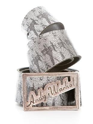Andy Warhol by Pepe Jeans Cinturón Elvis (Plata)