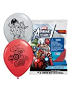 "Pioneer National Latex Marvel Avengers Assemble 12"" Latex Balloons, Assorted, 6 Count"
