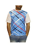 Auxamis Men's Half Sleeve Round Neck ester T-Shirt-Multi-Coloured