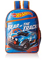 Hot Wheels Blue and Orange Children's Backpack (MBE - MAT026)