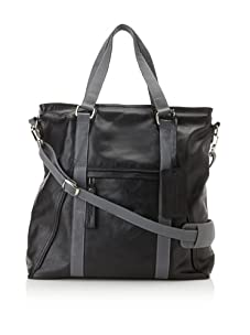 Dalexanders New York Men's The Classic Bag, Black/Grey