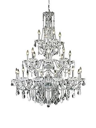 Crystal Lighting St. Francis 24-Light Chandelier, Chrome