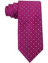 Scott Allan Men's Polka Dot Necktie - Plum Purple & Teal Blue