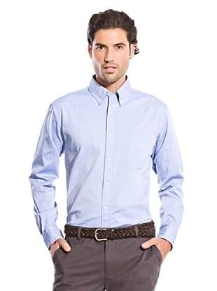 Cortefiel Camisa Popelín Liso (Azul)