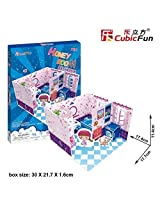 3 D Jigsaw Puzzle Honey Room Bathroom 3 D Puzzle P660h 37 Pieces Decorative Fashion Best Seller Cubic Fun Exiting Fun Educational Historic Playing Building Game Diy Holiday Kids Best Gift Toy Set