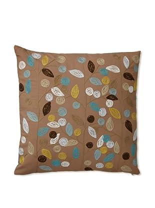 Zalva Swallow Ochre Decorative Pillow, Beige/Mocha/Taupe, 20