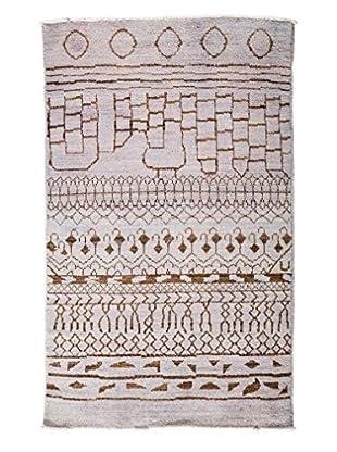 Darya Rugs Moroccan Oriental Rug, Lavender, 4' 1