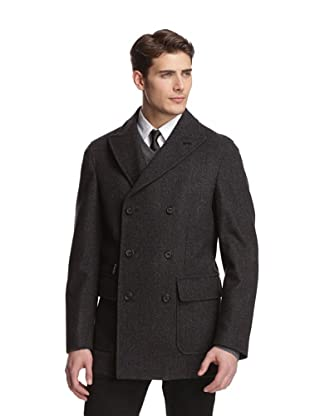 Brioni Men's Double-Breasted Pea Coat (Grey)