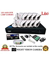AHD LIO 8CH DVR + AHD 1.3 Megapixel High Resolution LIO 36IR BULLET CAMERA 8pcs + 1 TB WD HDD + CABLE 3+1 COPPER + POWER SUPPLY (FULL COMBO)
