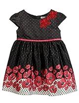Flower Printed Dress Black Print 9Y