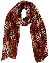 MALTDZ Women's Polyester Scarf (Brown)